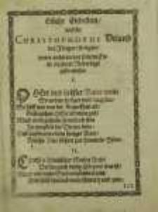 Etliche Gebetlein, welche Christophorus Utland der Jünger, seeligen, unter anderen vor seinem Ende in seiner Niederlage gebrauchet.