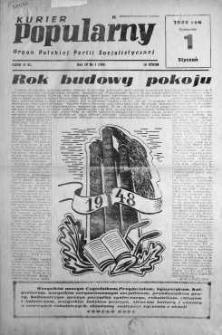 Kurier Popularny. Organ Polskiej Partii Socjalistycznej 1948, nr 1