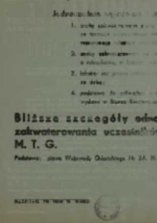 Odezwa. 19 lipca 1947 r.