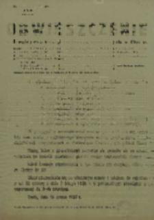 Obwieszczenie o drugiej rejestracji mężczyzn urodzonych w 1934 r.