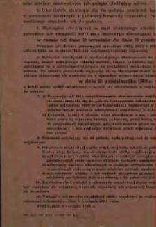Obwieszczenie Wojskowego Komendanta Rejonowego Opole o przeprowadzeniu poboru w 1954 roku