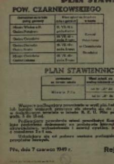 Obwieszczenie rejonowego Komendanta Uzupełnień Piła o przeprowadzeniu poboru mężczyzn rocznika 1928