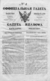 Gazeta Rządowa Królestwa Polskiego 1838 I, No 3