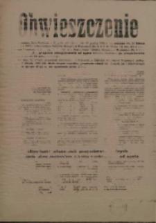 Obwieszczenie. 23 lutego 1949 r.