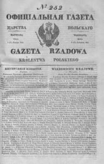 Gazeta Rządowa Królestwa Polskiego 1843 IV, No 252