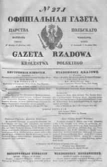 Gazeta Rządowa Królestwa Polskiego 1843 IV, No 271