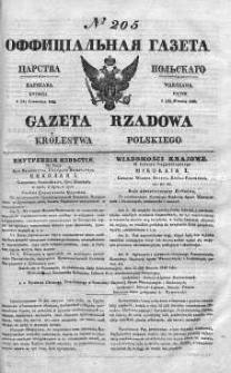 Gazeta Rządowa Królestwa Polskiego 1840 III, No 205