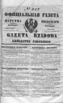 Gazeta Rządowa Królestwa Polskiego 1847 IV, No 247