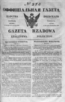 Gazeta Rządowa Królestwa Polskiego 1841 IV, No 273