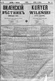 Kuryer Wileński. Gazata urzędowa, polityczna i literacka 1861, No 14