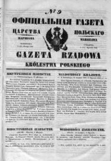 Gazeta Rządowa Królestwa Polskiego 1852 I, No 9