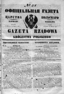 Gazeta Rządowa Królestwa Polskiego 1852 I, No 57