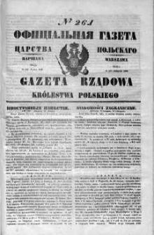 Gazeta Rządowa Królestwa Polskiego 1848 IV, No 261
