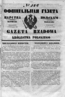 Gazeta Rządowa Królestwa Polskiego 1852 III, No 186