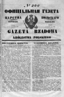 Gazeta Rządowa Królestwa Polskiego 1852 III, No 206