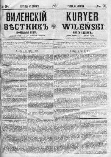 Kuryer Wileński. Gazata urzędowa, polityczna i literacka 1861, No 98