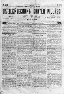 Kuryer Wileński. Gazata urzędowa, polityczna i literacka 1863, No 147