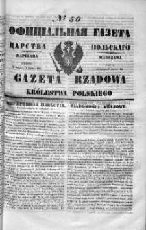 Gazeta Rządowa Królestwa Polskiego 1849 I, No 50