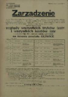 Zarządzenie. Powiat Gliwice