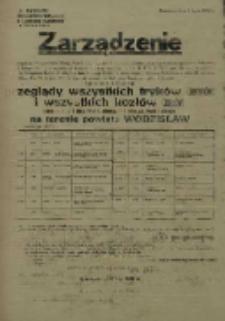 Zarządzenie. Powiat Wodzisław