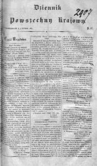 Dziennik Powszechny Krajowy 1831 I, Nr 37