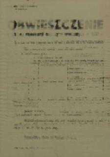 Obwieszczenie o drugiej rejestracji mężczyzn urodzonych w 1937 r.
