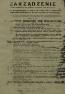 Zarządzenie Prezydium Wojewódzkiej Rady Narodowej w Koszalinie z dnia 30. VI. 1955 r. w sprawie przeprowadzenia w okresie jesiennym 1955 r. powszechnej akcji