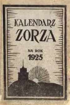 Kalendarz Zorza na rok 1925