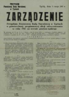 Zarządzenie Powiatowej Rady Narodowej w Tychach o powszechnej, przymusowej akcji odszczurzania w roku 1961 na terenie powiatu tyskiego
