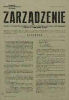 Zarządzenie Powiatowej Rady Narodowej w Tychach o powszechnej, przymusowej akcji odszczurzania w roku 1962 na terenie powiatu tyskiego