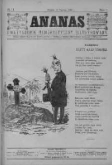 Ananas. Dwutygodniki humorystyczny ilustrowany 1886, No 11