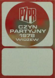 PZPR Czyn partyjny 1978 Widzew