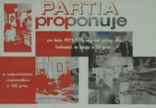 Partia proponuje na lata 1971-1975 wzrost usług dla ludności w kraju o 55% w województwie rzeszowskim o 100%