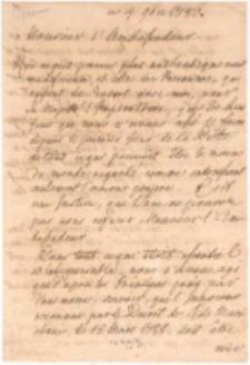 [List króla Stanisława Augusta Poniatowskiego do Otto Magnus von Stackelberga, ambasadora rosyjskiego w Warszawie].