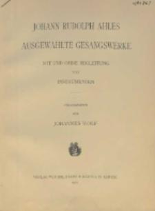 Ausgewählte Gesangswerke : mit und ohne Begleitung von Instrumenten