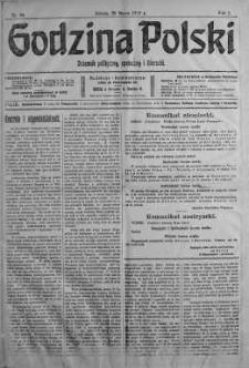 Godzina Polski : dziennik polityczny, społeczny i literacki 25 marzec 1916 nr 86