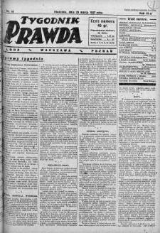 Tygodnik Prawda 20 marzec 1927 nr 12