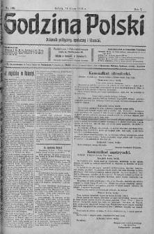 Godzina Polski : dziennik polityczny, społeczny i literacki 15 lipiec 1916 nr 195