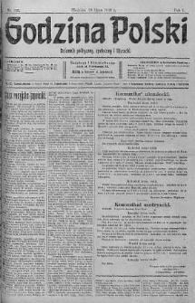 Godzina Polski : dziennik polityczny, społeczny i literacki 16 lipiec 1916 nr 196