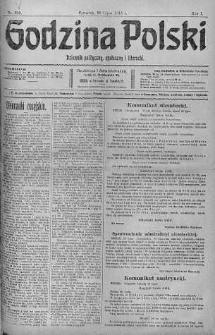 Godzina Polski : dziennik polityczny, społeczny i literacki 20 lipiec 1916 nr 200