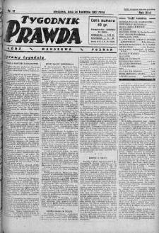 Tygodnik Prawda 24 kwiecień 1927 nr 17