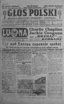 Głos Polski : dziennik polityczny, społeczny i literacki 6 październik 1925 nr 273