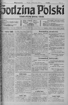 Godzina Polski : dziennik polityczny, społeczny i literacki 1 wrzesień 1916 nr 243