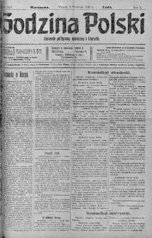Godzina Polski : dziennik polityczny, społeczny i literacki 5 wrzesień 1916 nr 247