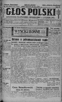Głos Polski : dziennik polityczny, społeczny i literacki 15 lipiec 1926 nr 192