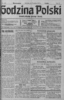 Godzina Polski : dziennik polityczny, społeczny i literacki 24 wrzesień 1916 nr 266