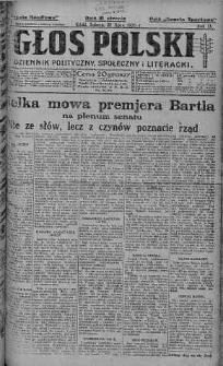 Głos Polski : dziennik polityczny, społeczny i literacki 31 lipiec 1926 nr 208