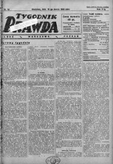 Tygodnik Prawda 10 marzec 1929 nr 10