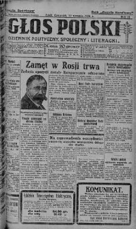Głos Polski : dziennik polityczny, społeczny i literacki 12 sierpień 1926 nr 220
