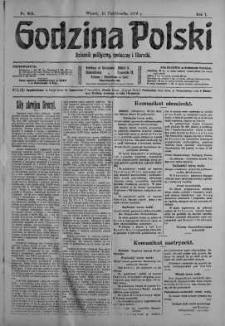Godzina Polski : dziennik polityczny, społeczny i literacki 31 październik 1916 nr 303
